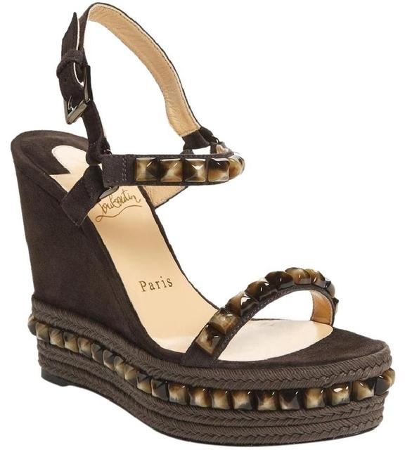 Item - Brown/Grey Classic Cataclou 120mm Studded Suede Leather Testa Di Moro Sandals Size EU 39 (Approx. US 9) Regular (M, B)
