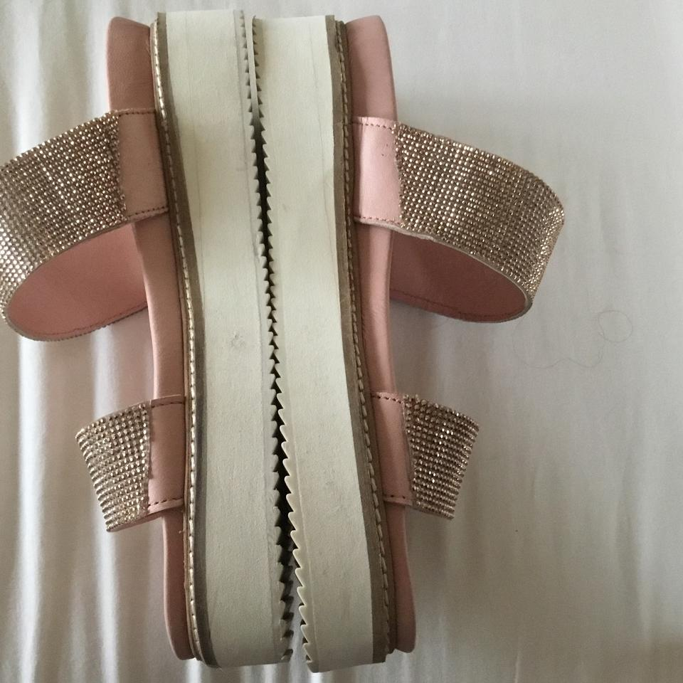 1710bdeb8d3 Free People Rose Gold Harper Embellished Slide Sandals Size US 8 ...