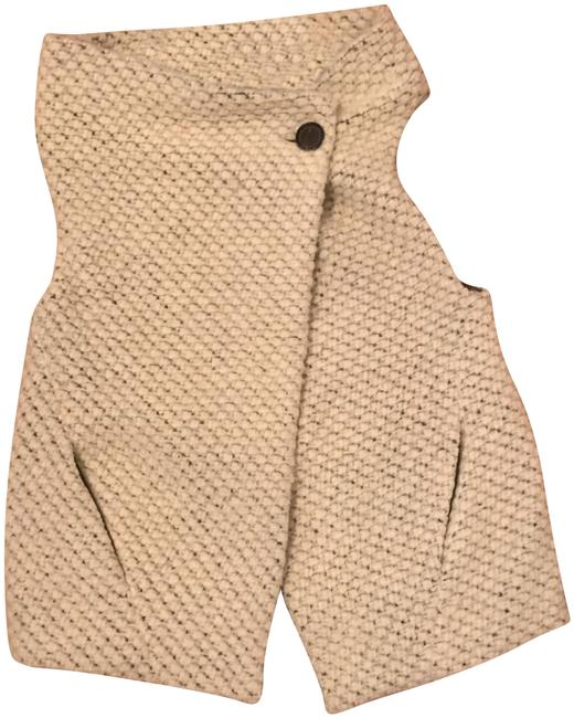 Item - White Wool with Pockets Vest Size 6 (S)