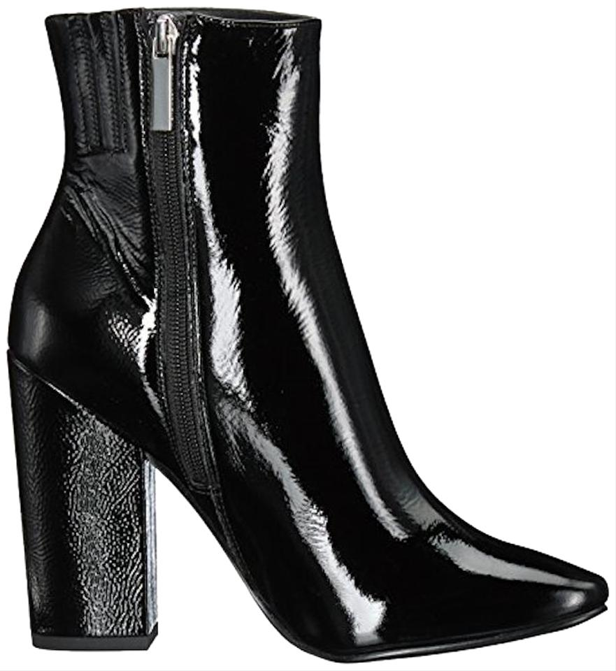 7a079613a Kendall + Kylie Black Patent Leather Boots/Booties Size US 7 Regular ...