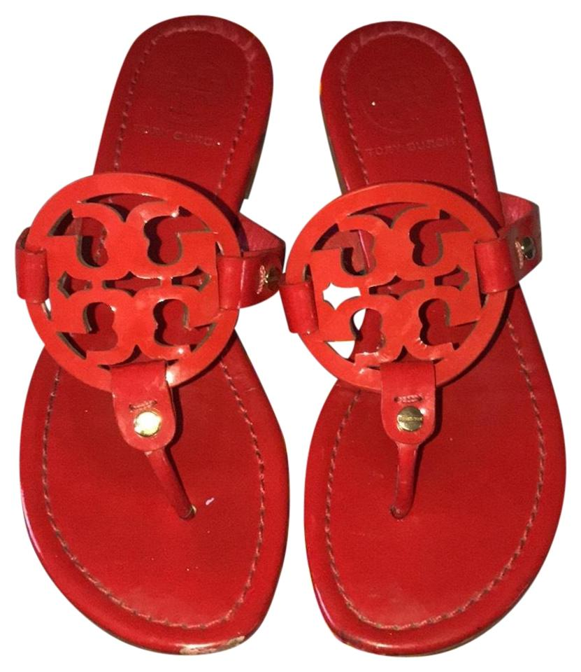 Tory Burch Red Patent Patent Red Miller Sandals 0028f1