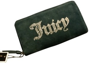 Juicy Couture Suade Studded Gold Hardware Wristlet in Blue