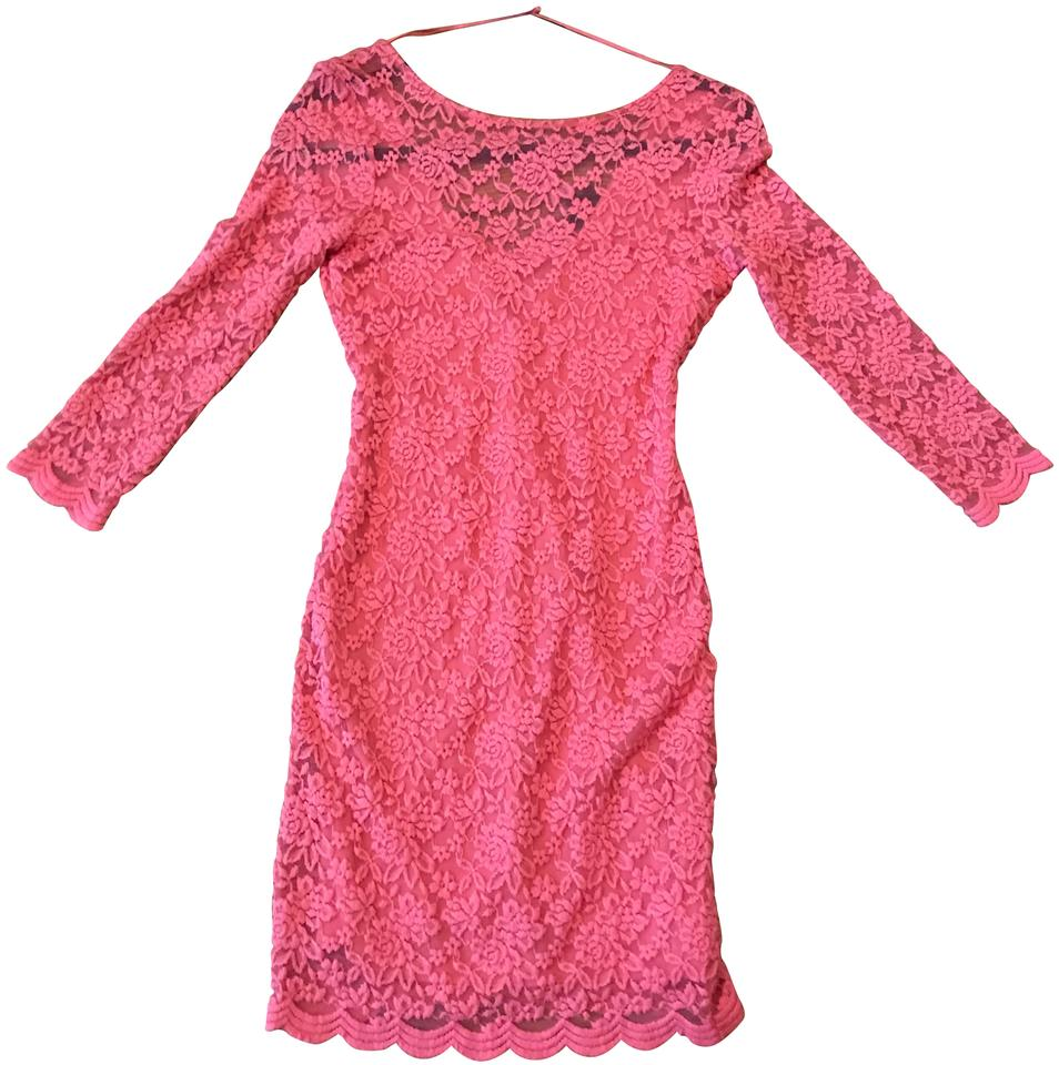 Topshop Pink Body Hugging Party Short Night Out Dress Size 4 (S ...
