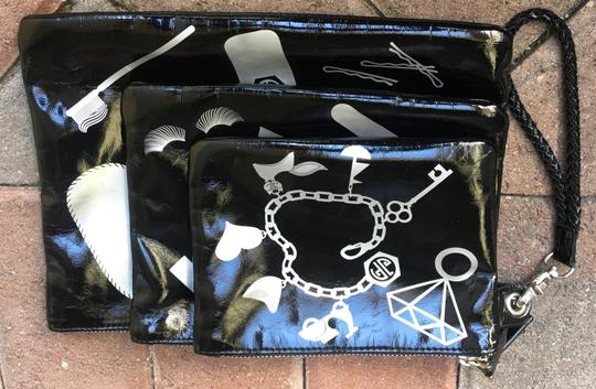 Jonathan Adler Cosmetic Pouches Small Suze Medium Size Large Size Black Clutch Image 6