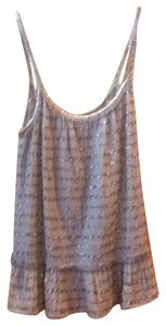 Calypso St. Barth Top Brown with gold sequins and Trim