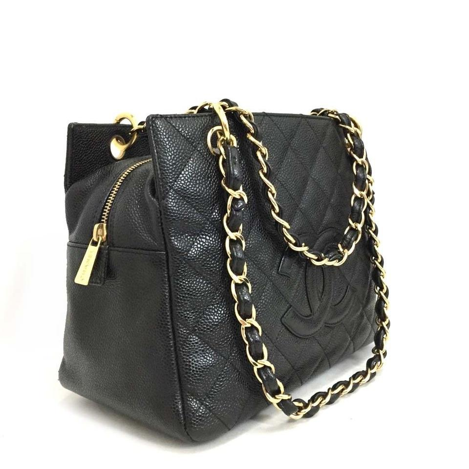 b18bbf78c7b0 Chanel Tote Near New Petite Timeless Quilted Matelasse Cc Logo Caviar 5785 Black  Leather Shoulder Bag
