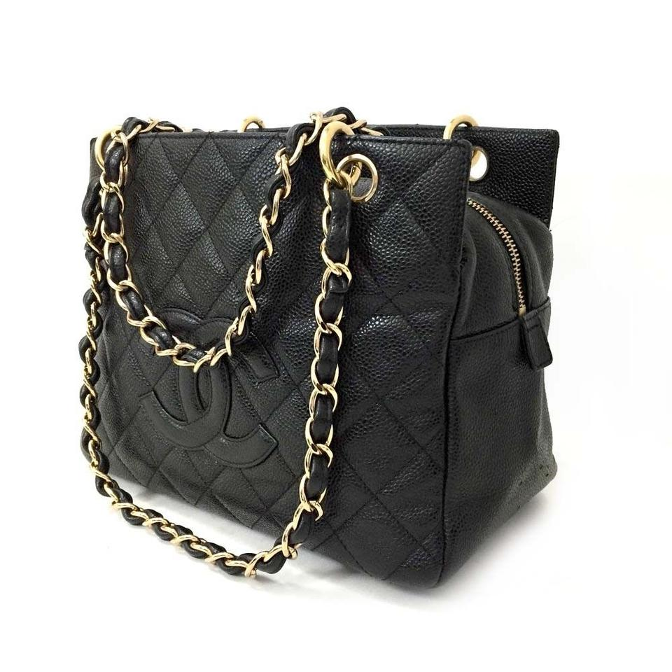 fc7a40ea7454 Chanel Tote Near New Petite Timeless Quilted Matelasse Cc Logo Caviar 5785 Black  Leather Shoulder Bag - Tradesy