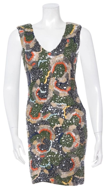 Item - Multi-color W Bead & Sequin Embellished W/ Tags Short Cocktail Dress Size 2 (XS)