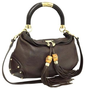 ebb93ceab4c Gucci Indy Medium Brown 5782 Leather Hobo Bag - Tradesy