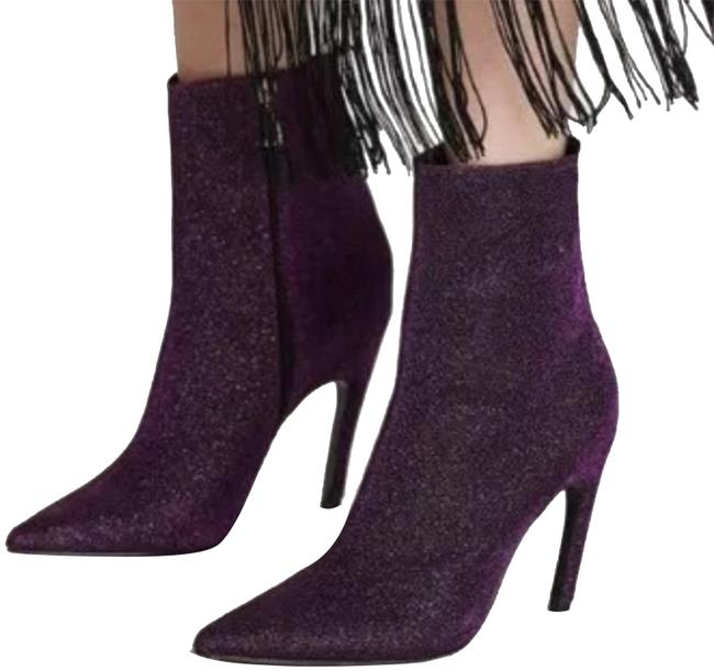 Item - Pink Shiny High Heel Pointed Ankle Boots/Booties Size US 5 Regular (M, B)