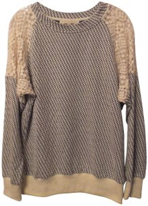 Anthropologie Everleigh Knit Lace Oversized Sweater