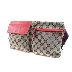 Gucci Monogram GG Red Waist Pouch