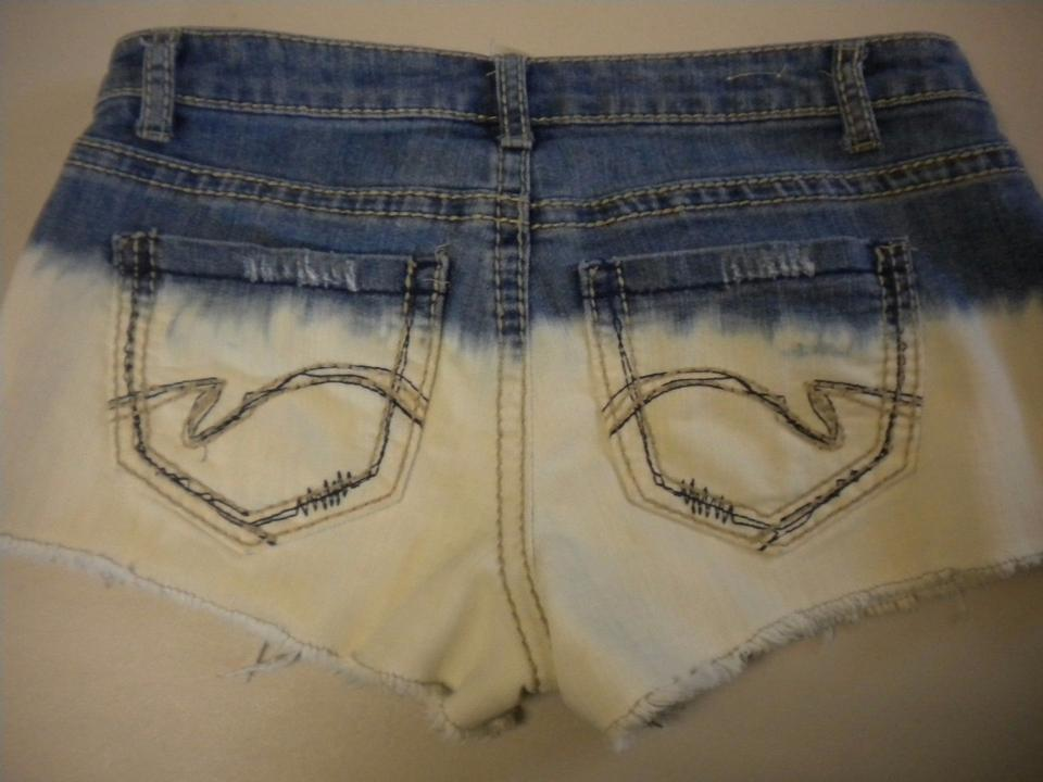 4a165bf86 Mossimo Supply Co. Blue Face Tie Dye Fit 6 Denim Cut Off Shorts Multi-. 123