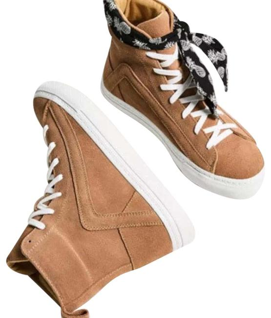Item - Sand High-top Leather Sneakers Nude Platforms Size US 7.5 Regular (M, B)