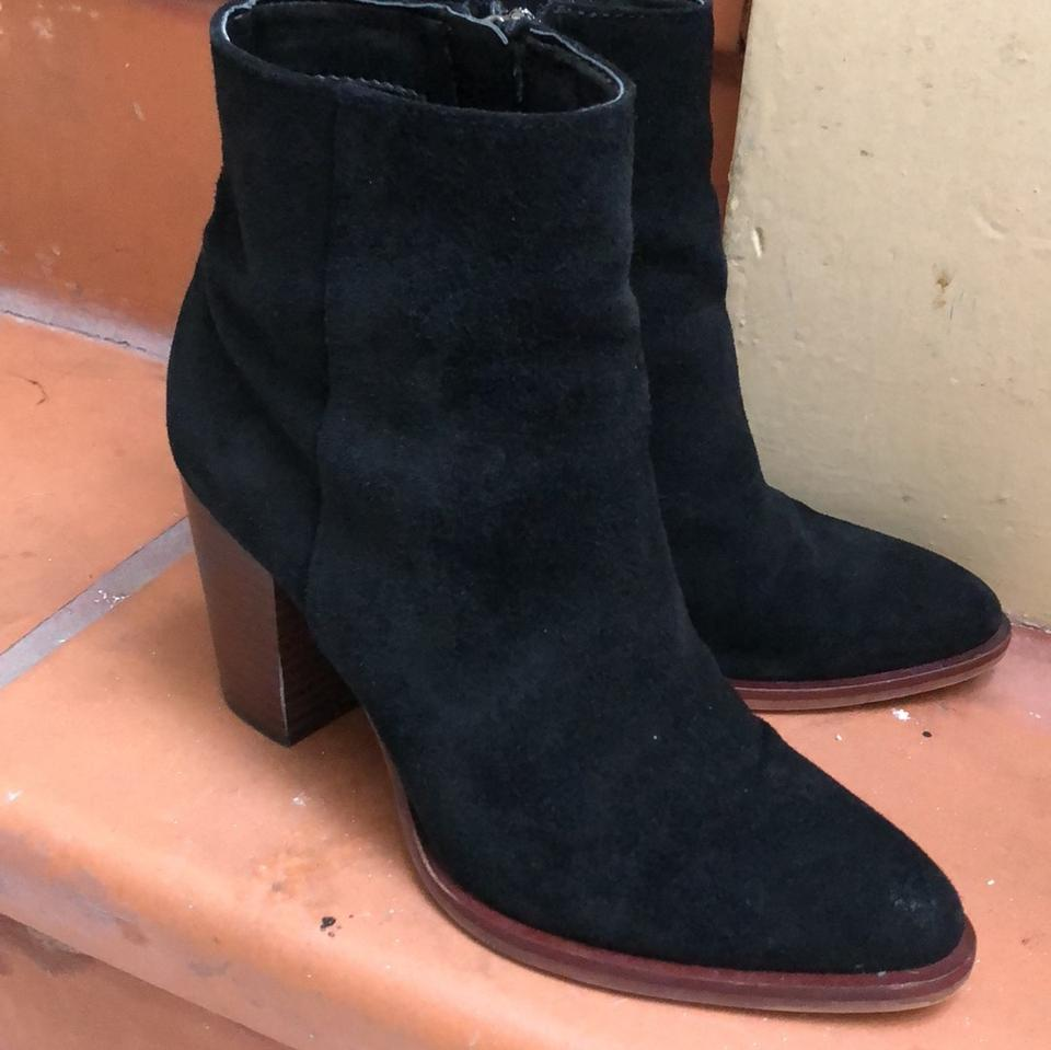 66e246fc8 Sam Edelman Black Blake Suede Ankle Boots Booties Size US 5 Regular ...
