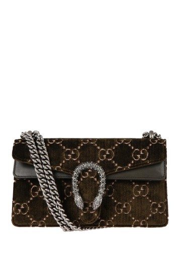 96d5595920ae Gucci Marmont Dionysus Gg Small Olive Velvet Shoulder Bag - Tradesy