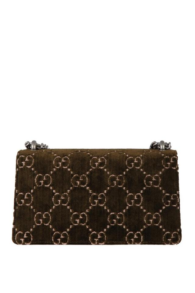 b72067752eef Gucci Dionysus Marmont Gg Small Olive Velvet Shoulder Bag - Tradesy