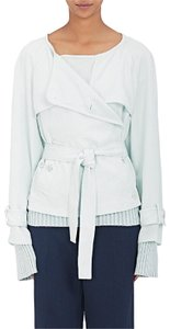 Sies Marjan Trench Belted Twill Sky Blue Jacket