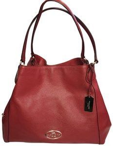 Coach Tote in Red Currant/Light Gold