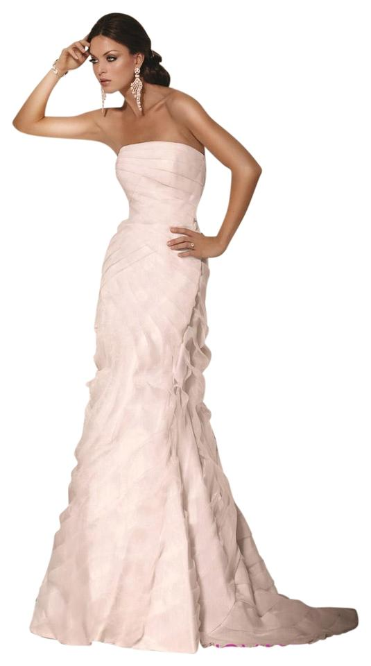 Jovani White The Organza Waves Mermaid Gown -- 8666 Long Formal ...