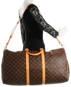 Louis Vuitton Bandouliere Keepall Duffle Keepall With Strap Duffle With Strap Brown Travel Bag