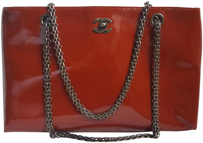 Item - Shoulder Bag Coco Logo Red Patent Leather Tote