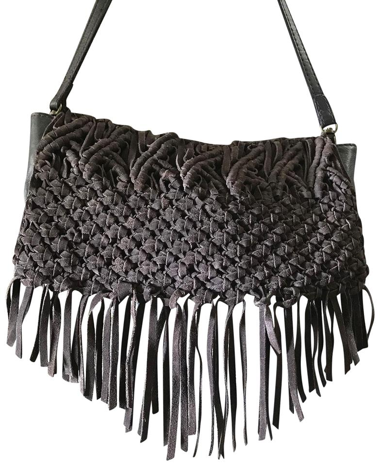 Lucky Brand Macrame Woven Brown Leather Suede Shoulder Bag - Tradesy 7faaf3a484
