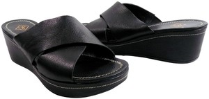 Donald J. Pliner Wedge Black Sandals