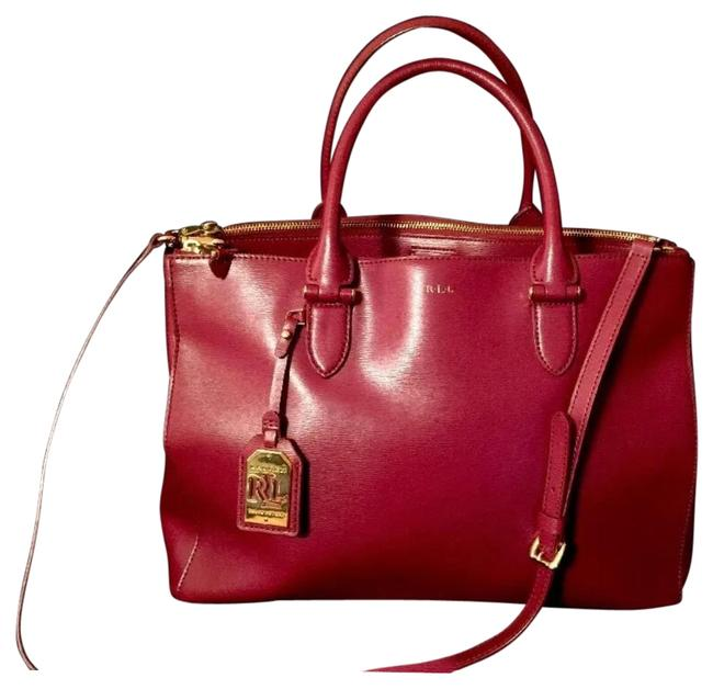Item - By Newbury Double Zip Claret / Red Leather Tote