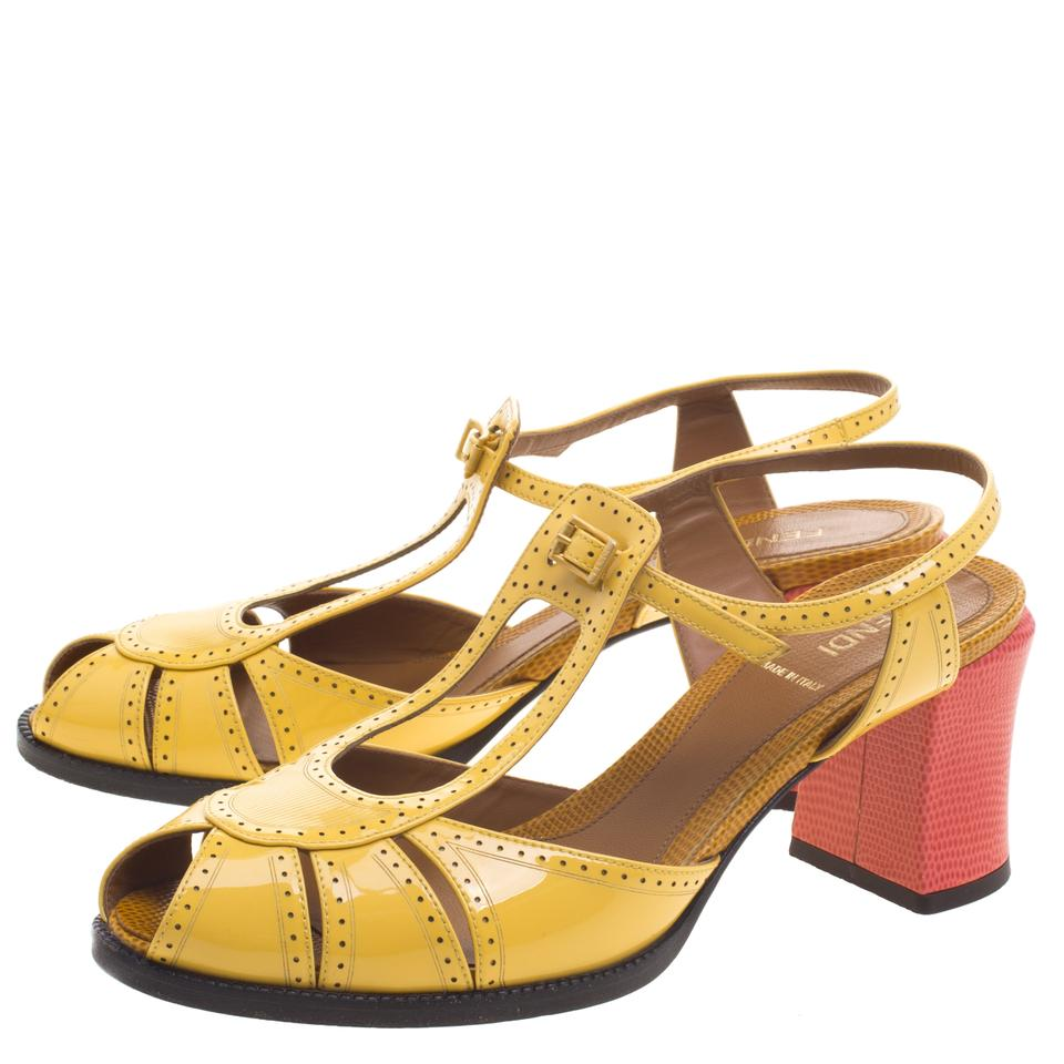 Fendi Multicolour Two Two Two Tone Leather Ankle Strap Sandals fdba7a