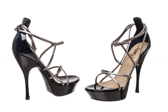 Item - Silver Leather Strappy 40) 480922 Sandals Size EU 40 (Approx. US 10) Regular (M, B)