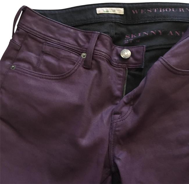 Item - Purple Coated Westbourne Ankle Skinny Jeans Size 4 (S, 27)