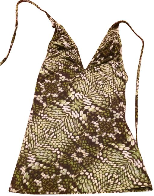 Item - Green Anaconda Print Halter Top Size 2 (XS)