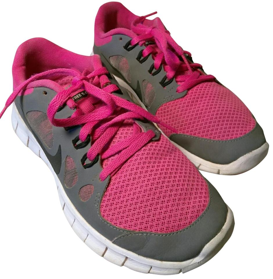 72e92b67c4fd Nike Dark Gray   Pink - Black Accents Free 5.0 Sneakers Size US 7 ...