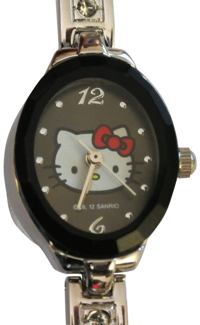 Item - Black Face Silver Band Quartz Children Wristwatch Watch