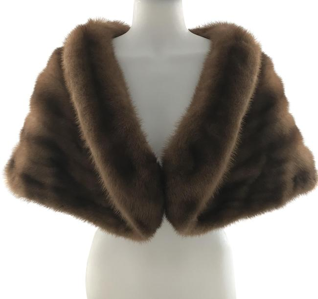 Item - Brown Vintage Sable Stole Poncho/Cape Size OS (one size)