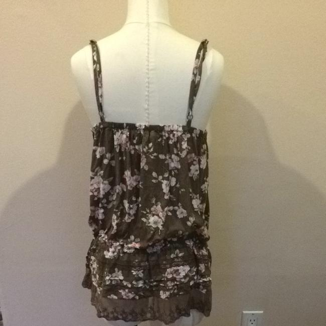 Only Mine Top Brown Floral Print