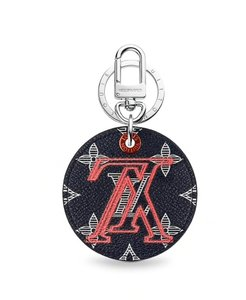 Louis Vuitton BIJOU OF BAG AND KEYCHAIN LV UPSIDE DOWN ILLUSTRATED CHARM