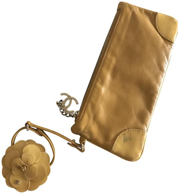 Item - Camilla Limited Edition Giold/Deep Yellow Lambskin Leather Wristlet