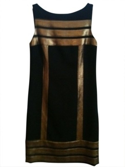 Preload https://item2.tradesy.com/images/tory-burch-black-with-gold-metallic-style-knee-length-cocktail-dress-size-6-s-23101-0-0.jpg?width=400&height=650