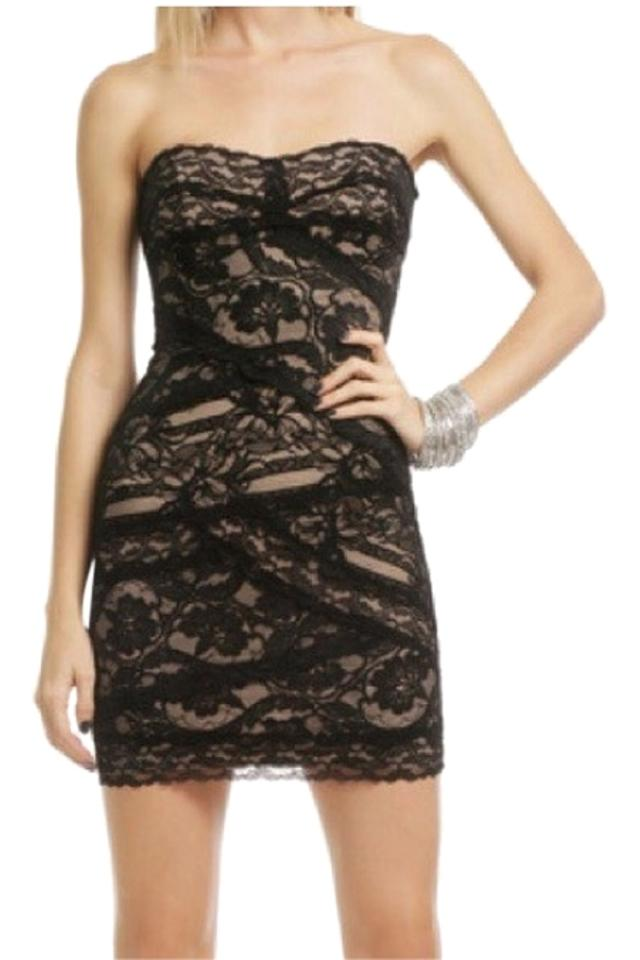 c3a833b8de1b8 Nicole Miller Black and Nude Cocktail Dress Size 6 (S) - Tradesy