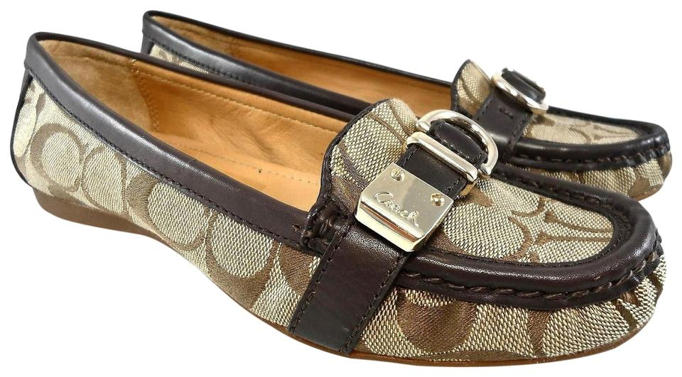 177ecd4d719 Coach Khaki Flores Signature C Buckle Driving Loafers Moc Toe Flats Size US  6 Regular (M, B) 51% off retail