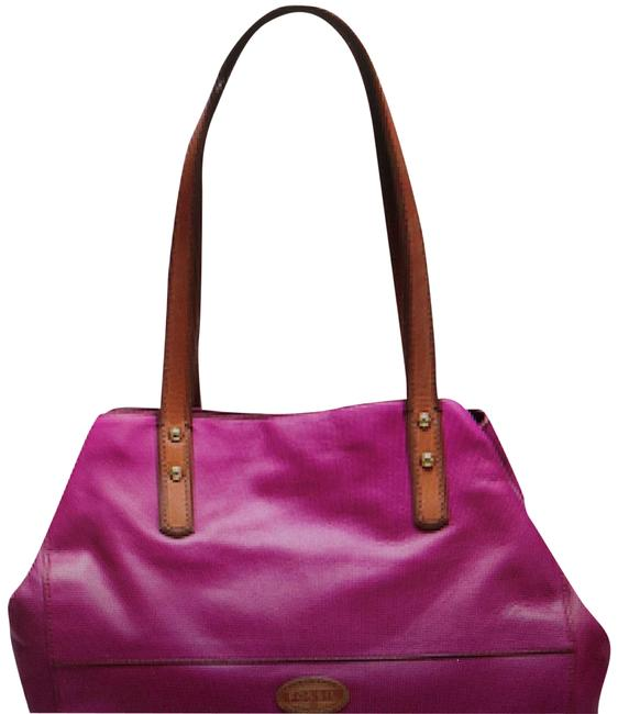 Item - Zoey Shopper In Grape - Pink Leather Tote