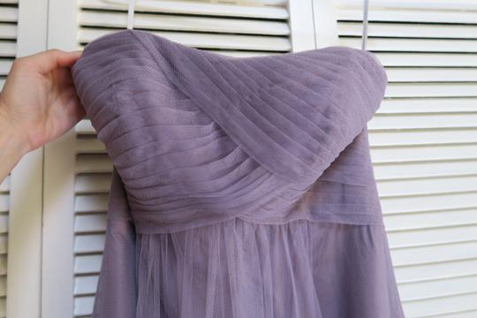 Wtoo Heather Purple Tulle Style #342 Formal Bridesmaid/Mob Dress Size 4 (S)