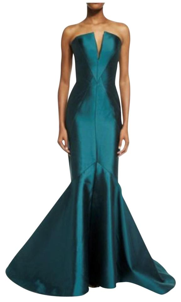Emerald Strapless Fitted Mermaid Gown Long Formal Dress Size 6 S