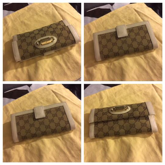 Gucci Authentic Gucci Logo GG PVC Leather Long Wallet Purse