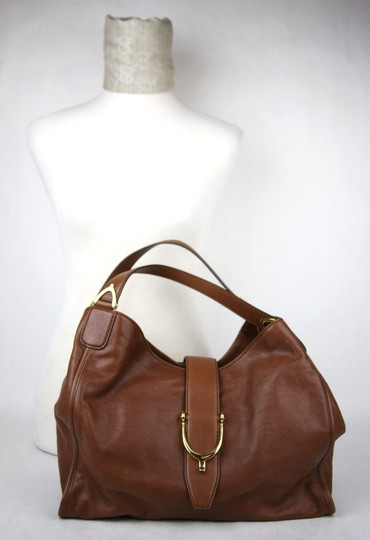 Gucci Marrone Washed Soft Calf Hobo Bag