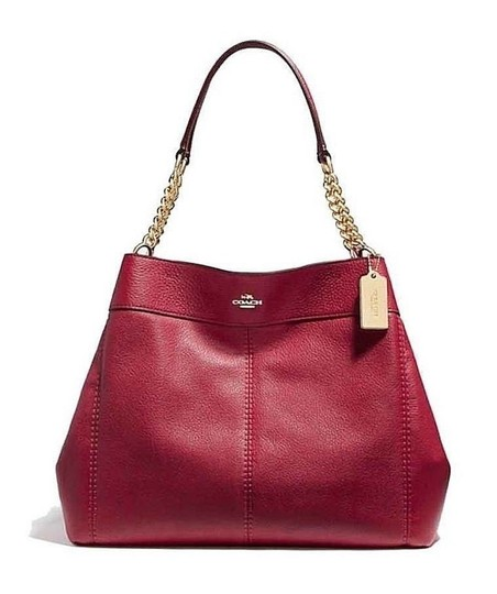 Preload https://item5.tradesy.com/images/coach-new-soft-pebbled-gold-chain-shoulder-27594-red-leather-hobo-bag-23101774-0-2.jpg?width=440&height=440