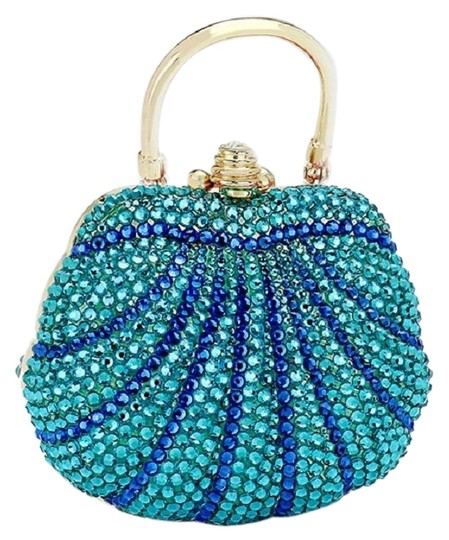 Preload https://img-static.tradesy.com/item/23101788/new-rhinestone-crystal-evening-purse-turquoise-hard-case-clutch-0-1-540-540.jpg