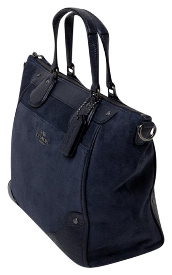 Preload https://item2.tradesy.com/images/coach-mickie-crossbody-navy-blue-suedeleather-satchel-23101801-0-1.jpg?width=440&height=440